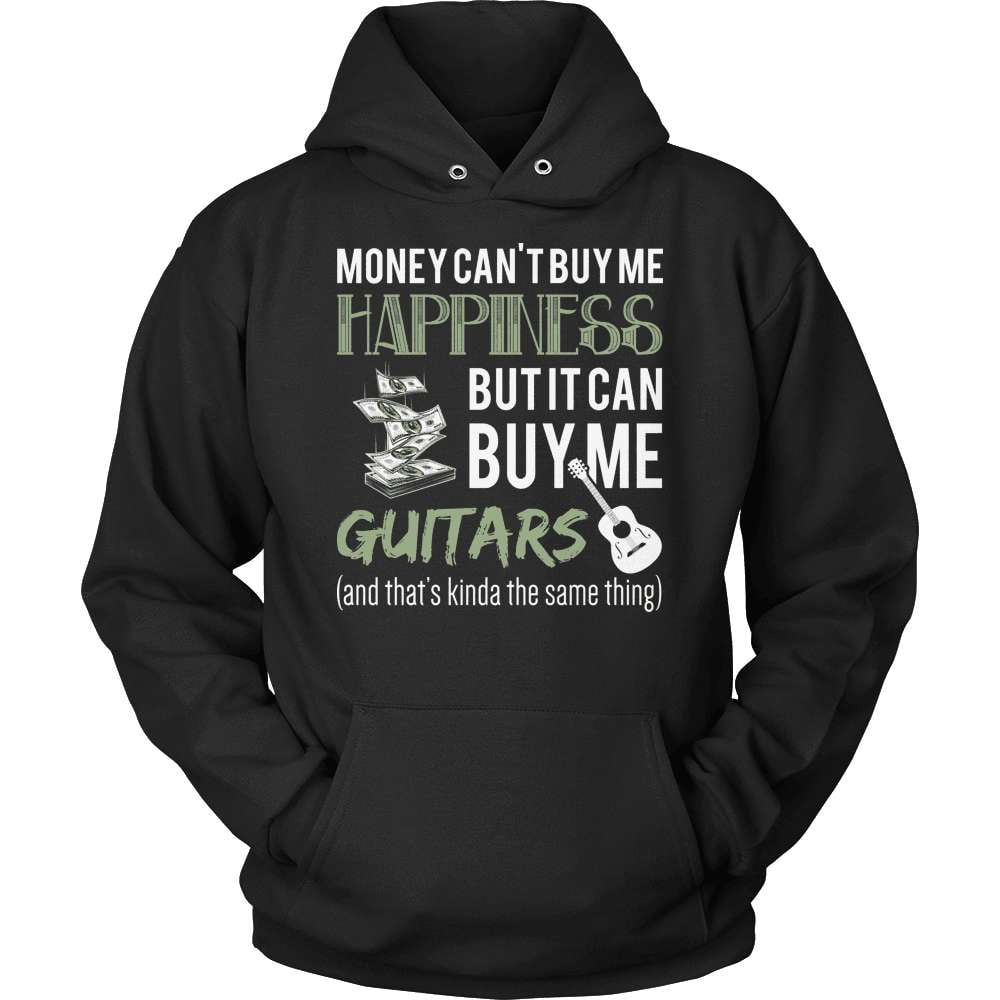 Guitarist T-Shirt Design - Money Can't Buy Me Happiness! - snazzyshirtz.com