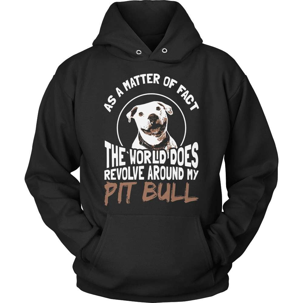 Pit Bull T-Shirt Design - World Revolves - snazzyshirtz.com
