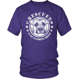 Pit Bull T-Shirt Design - Rescued