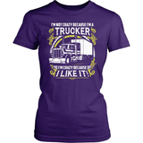 Trucker T-Shirt Design - Crazy Trucker