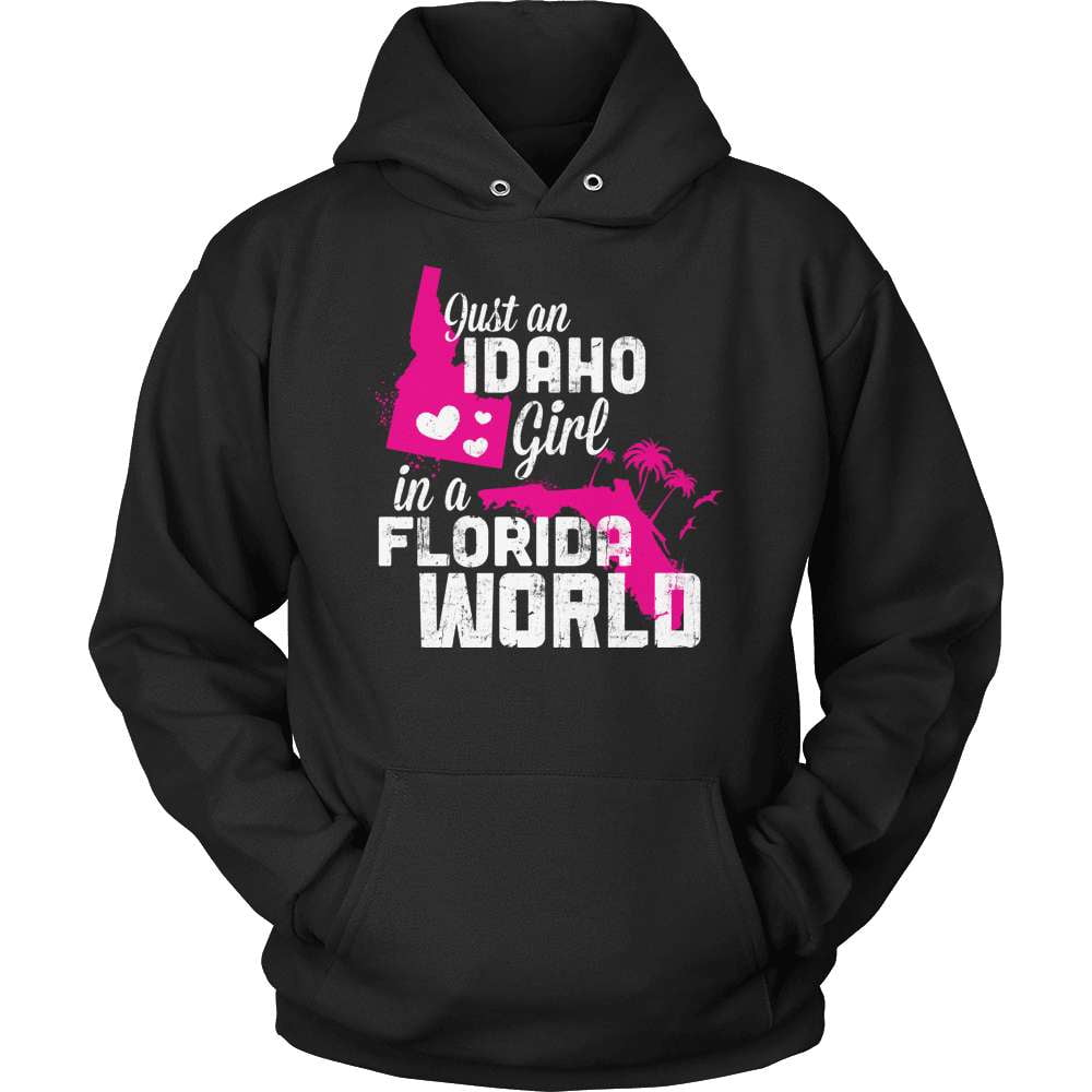 Idaho T-Shirt Design - Idaho Girl Florida World - snazzyshirtz.com