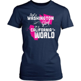 Washington T-Shirt Design - Washington Girl California World