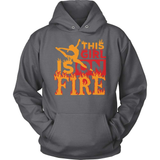 Gymnastics T-Shirt Design - This Girl Is On Fire!