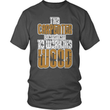 Carpenter T-Shirt Design - Work The Wood