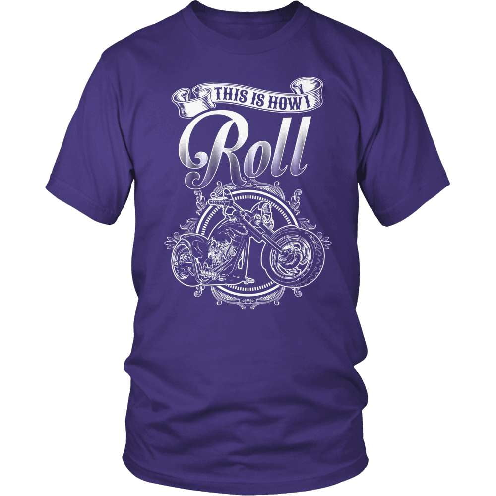 Biker T-Shirt Design - This Is How I Roll