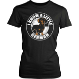 Dachshund T-Shirt Design - I Know A Little German