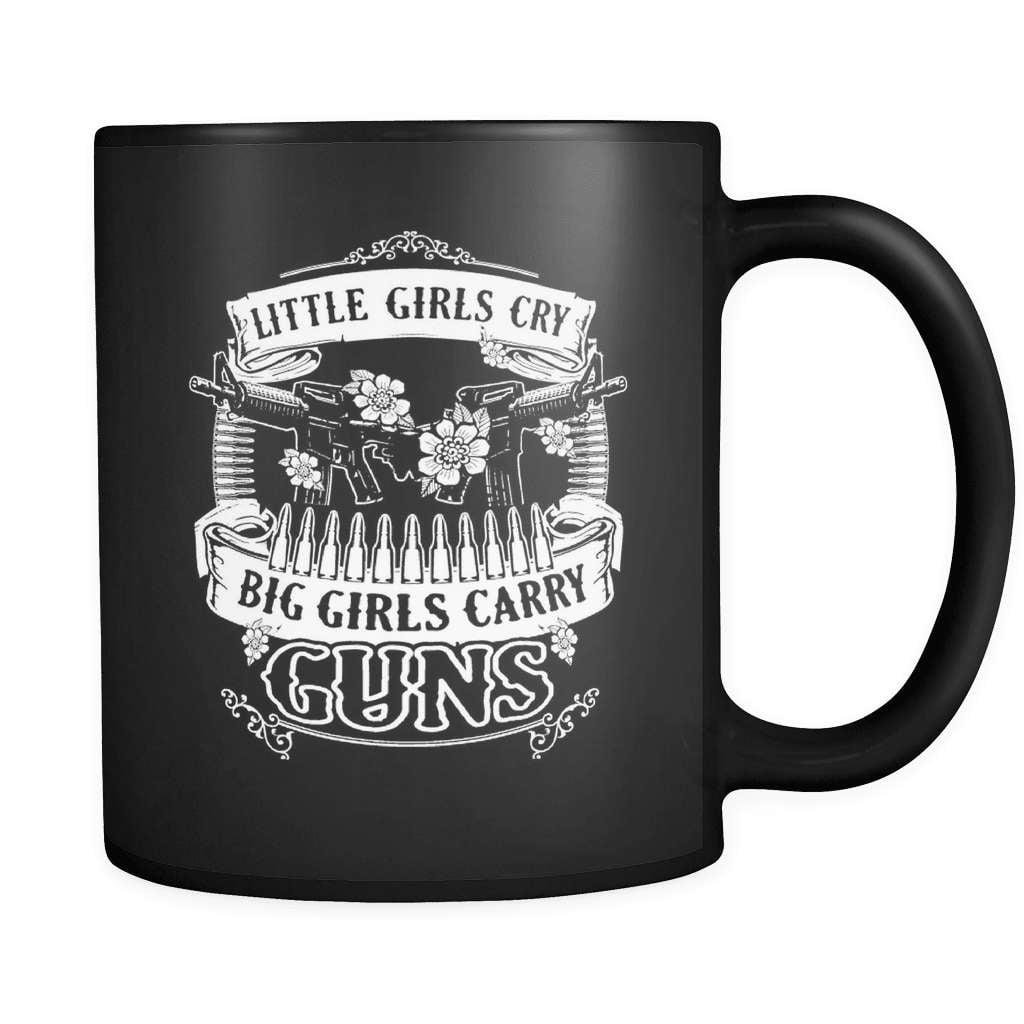 Big Girls Carry Guns - Luxury Gun Mug - snazzyshirtz.com