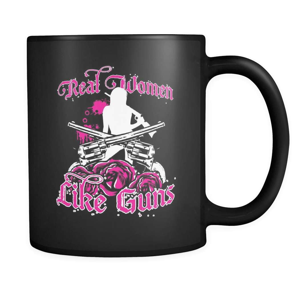 Real Women Like Guns - Luxury Mug - snazzyshirtz.com