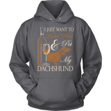 Dachshund T-Shirt Design - Drink Wine & Pet My Dachs