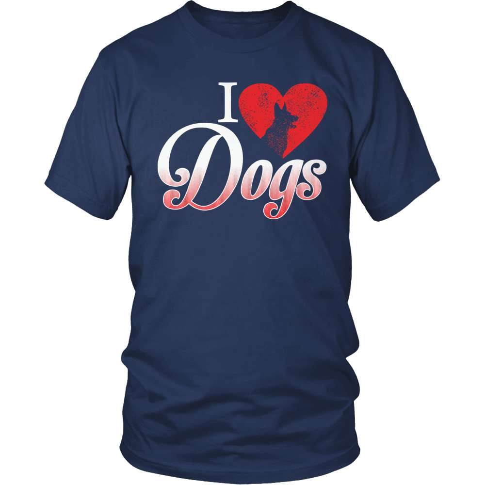 Dog T-Shirt Design - I Love Dogs