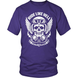 Biker T-Shirt Design - Ride Like Hell!