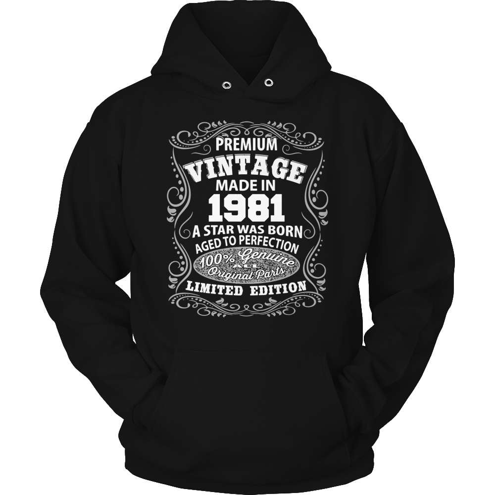 Born in 1981 T-Shirt Made in 1981 Year Born Shirt Limited Edition Year