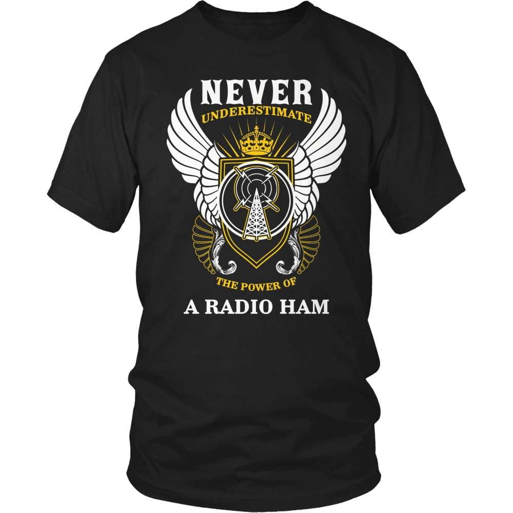 Ham Radio T-Shirt Design - The Power Of A Radio Ham - snazzyshirtz.com