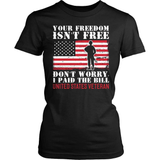 Veteran T-Shirt Design - I Paid The Bill