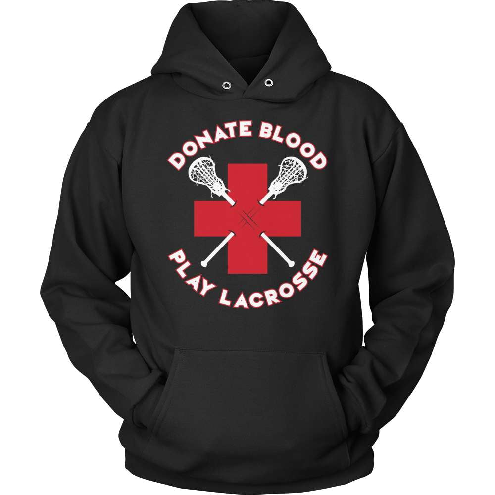 Lacrosse T-Shirt Design - Donate Blood - snazzyshirtz.com