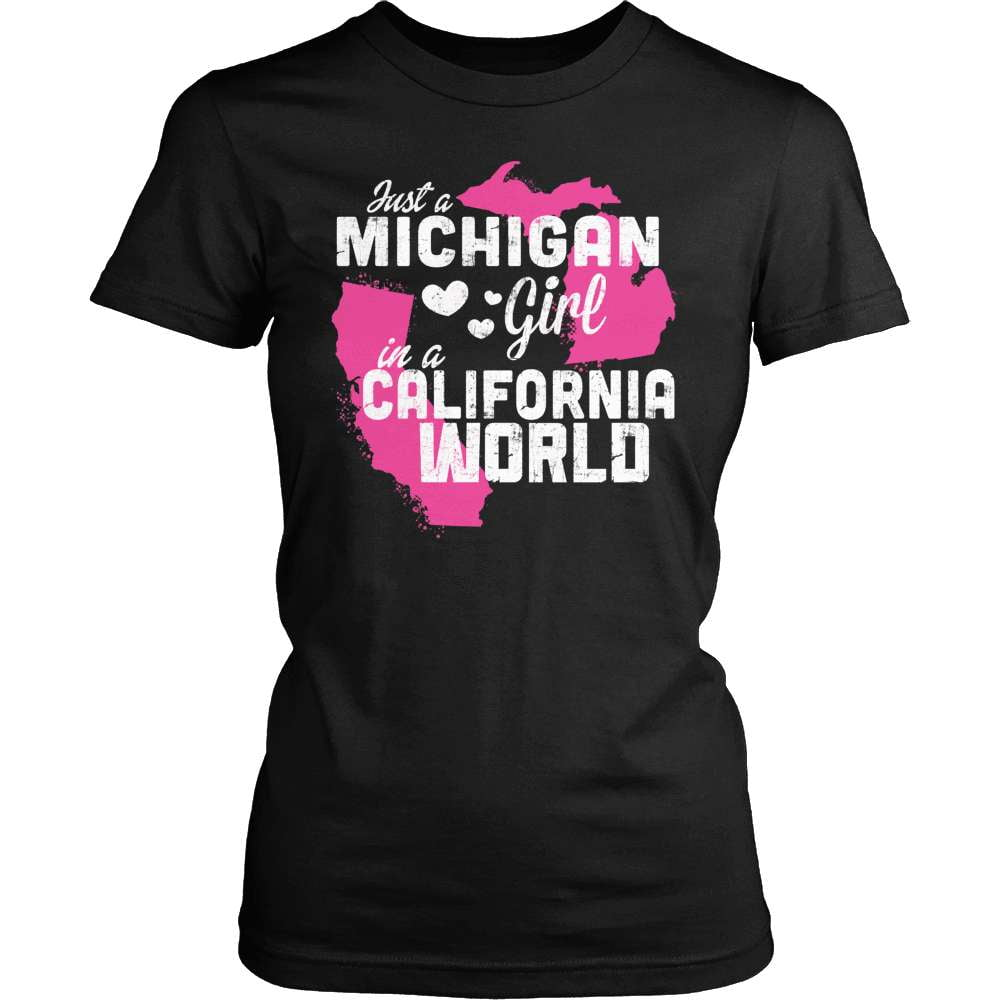 Michigan T-Shirt Design - Michigan Girl California World