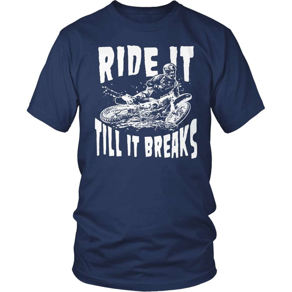 Dirt Bike T-Shirt Design - Till It Breaks!
