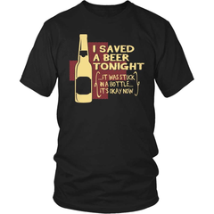 Beer T-Shirt Design - I Saved A Beer! - snazzyshirtz.com