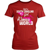 South Carolina T-Shirt Design - South Carolina Girl Florida World