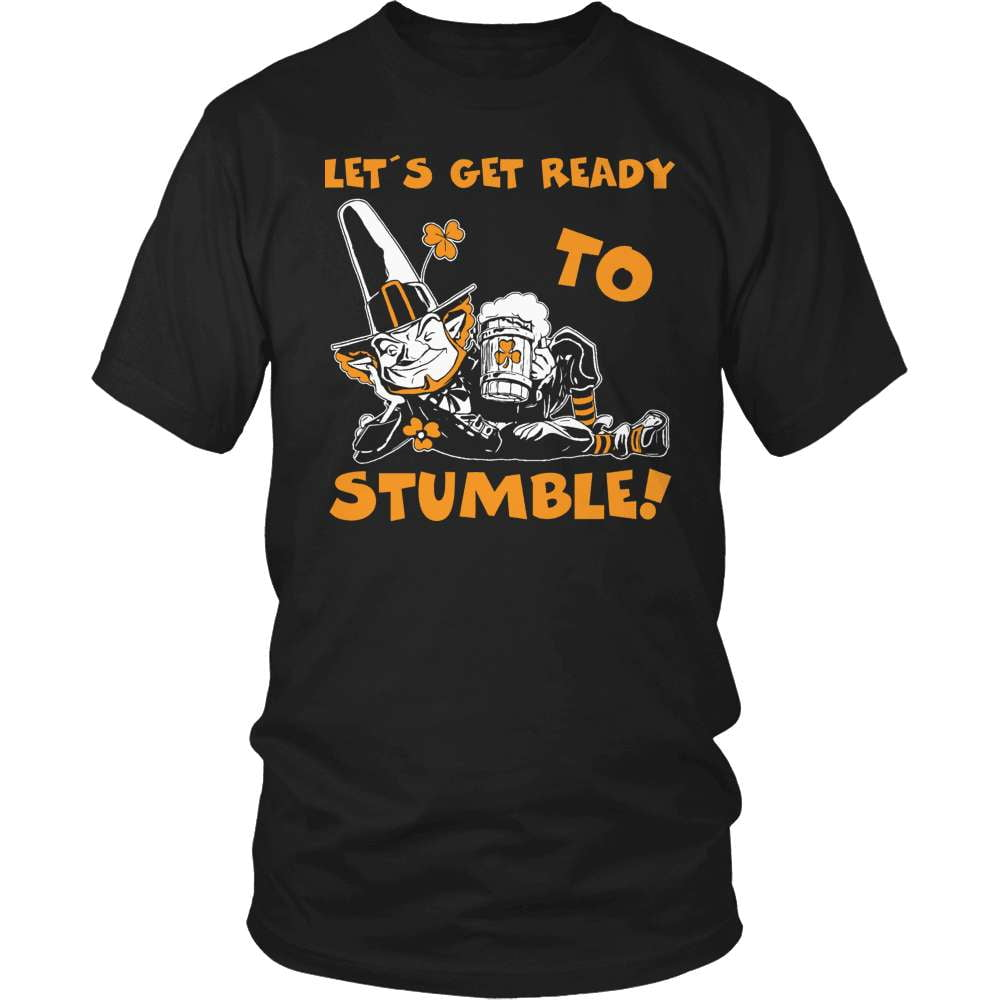 Irish T-Shirt Design - Let's Get Ready To Stumble! - snazzyshirtz.com