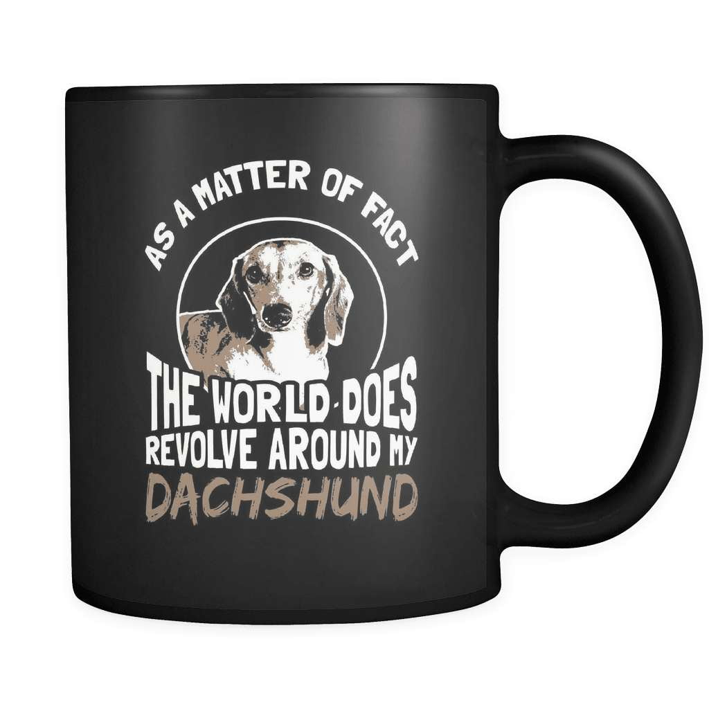 The World Revolves Around My Dachshund - Luxury Mug