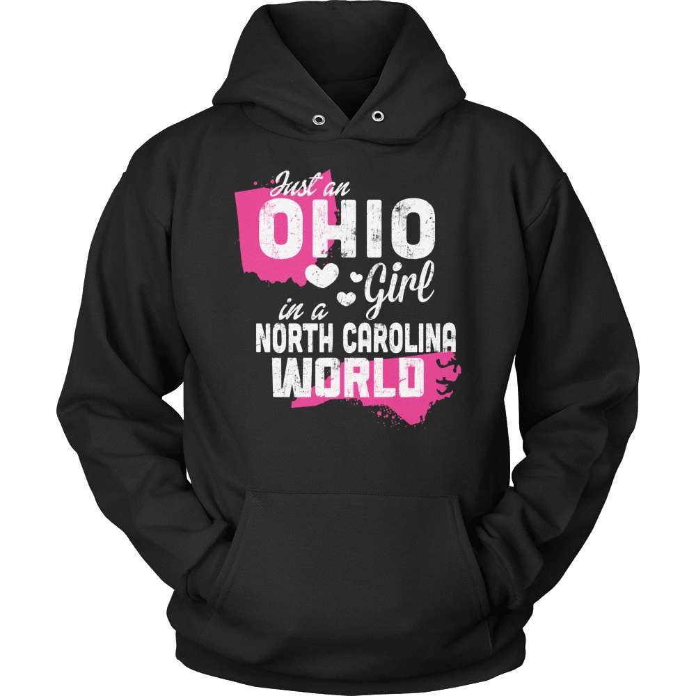 Ohio T-Shirt Design - Ohio Girl North Carolina World