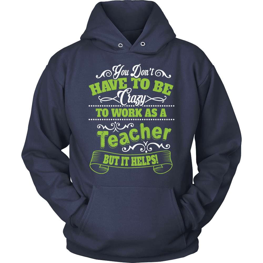 Teacher T-Shirt Design - To Work As Crazy Teacher