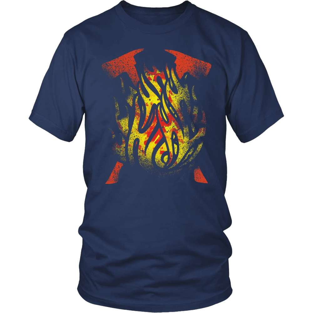 Firefighter T-Shirt Design - Forged By Fire