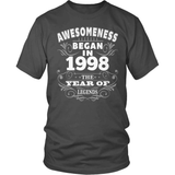 Birthday T-Shirt Design - Awesomeness - 1998