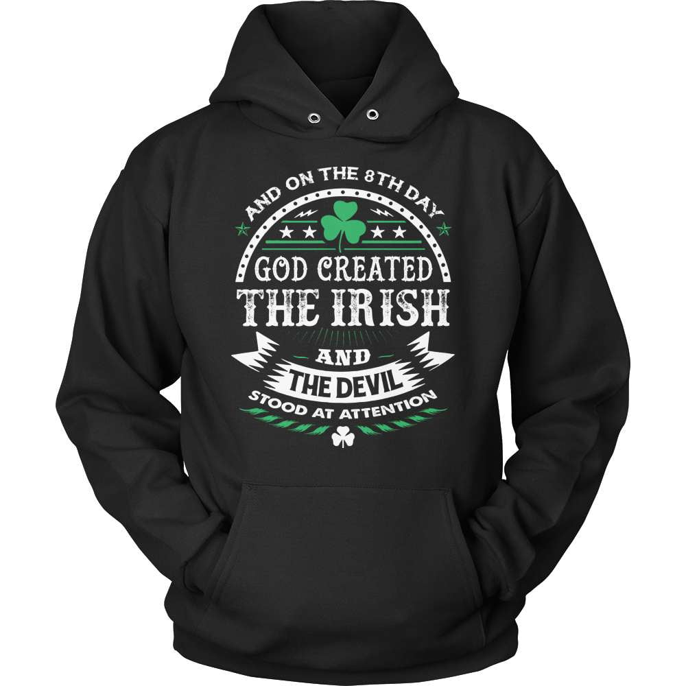 Irish T-Shirt Design - God Created The Irish