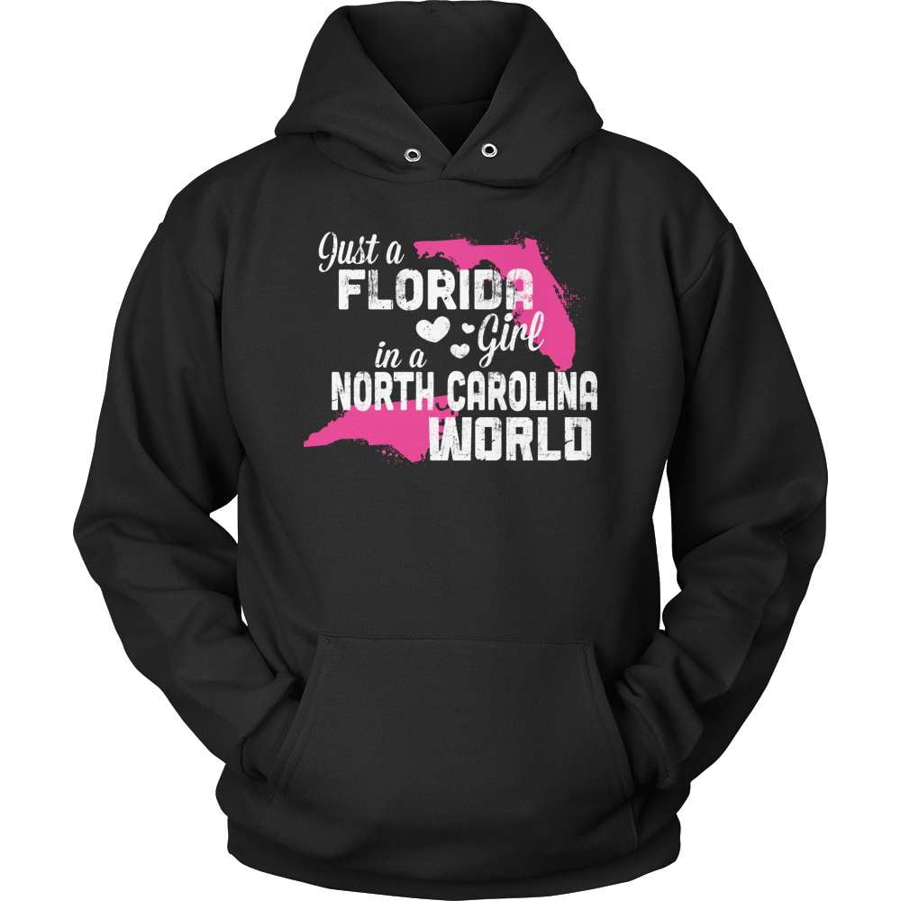 Florida T-Shirt Design - Florida Girl North Carolina World - snazzyshirtz.com