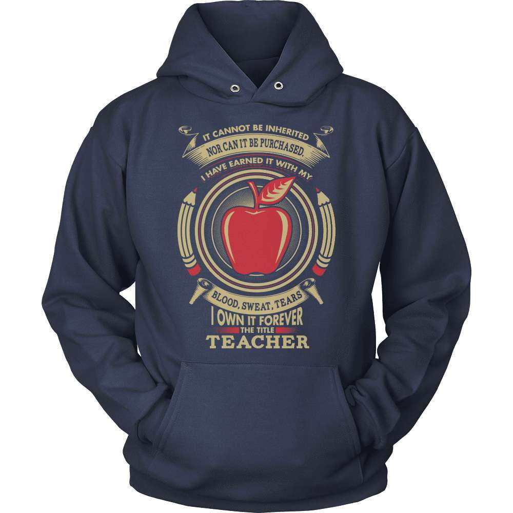 Teacher T-Shirt Design - Blood Sweat and Tears