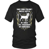 Chihuahua T-Shirt Design - My Family My Freedom My Chihuahua