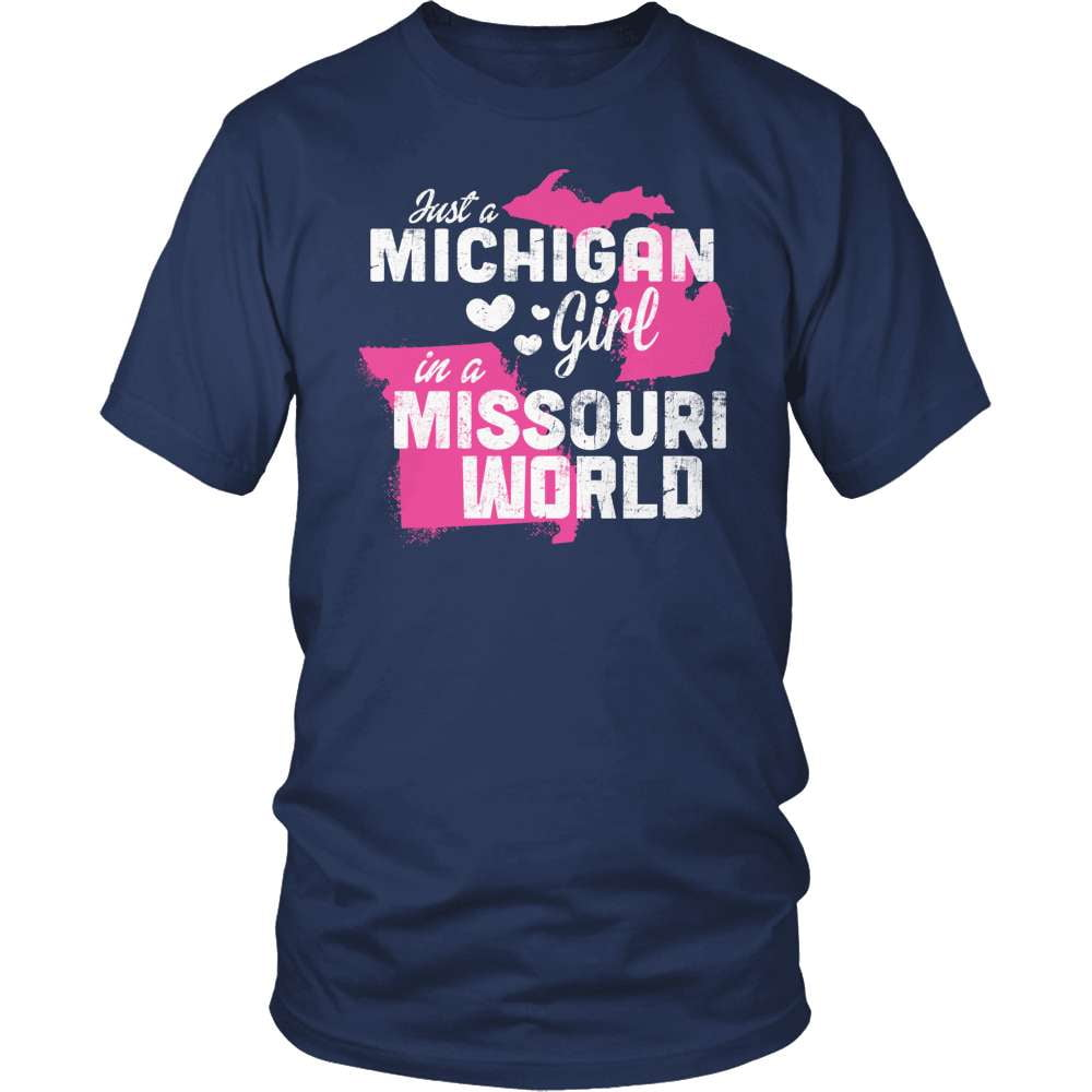 Michigan T-Shirt Design - Michigan Girl Missouri World
