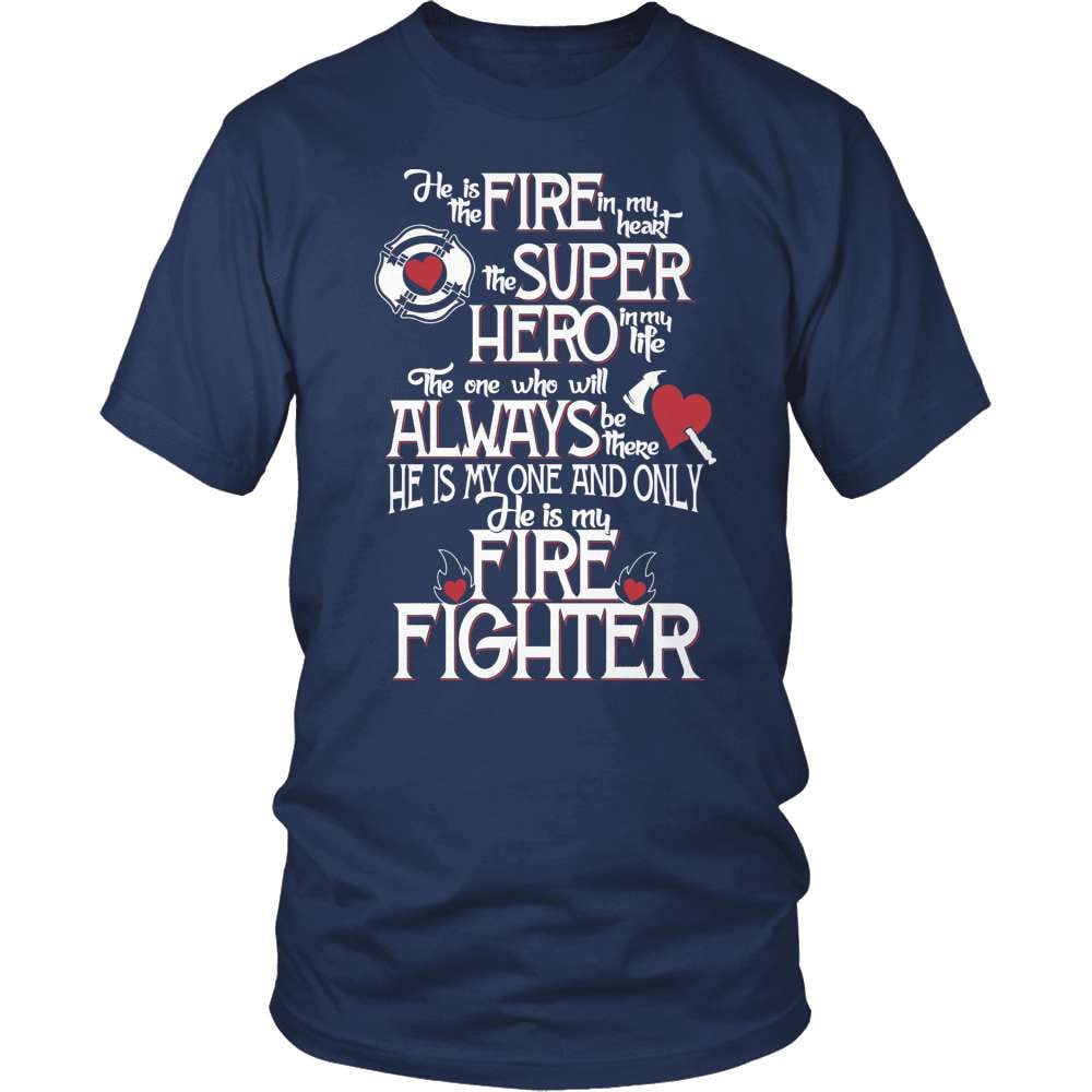 Firefighter T-Shirt Design - He Is The Firefighter In My Heart