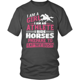 Horse T-Shirt Design - I Ride Horses Eat My Dust!