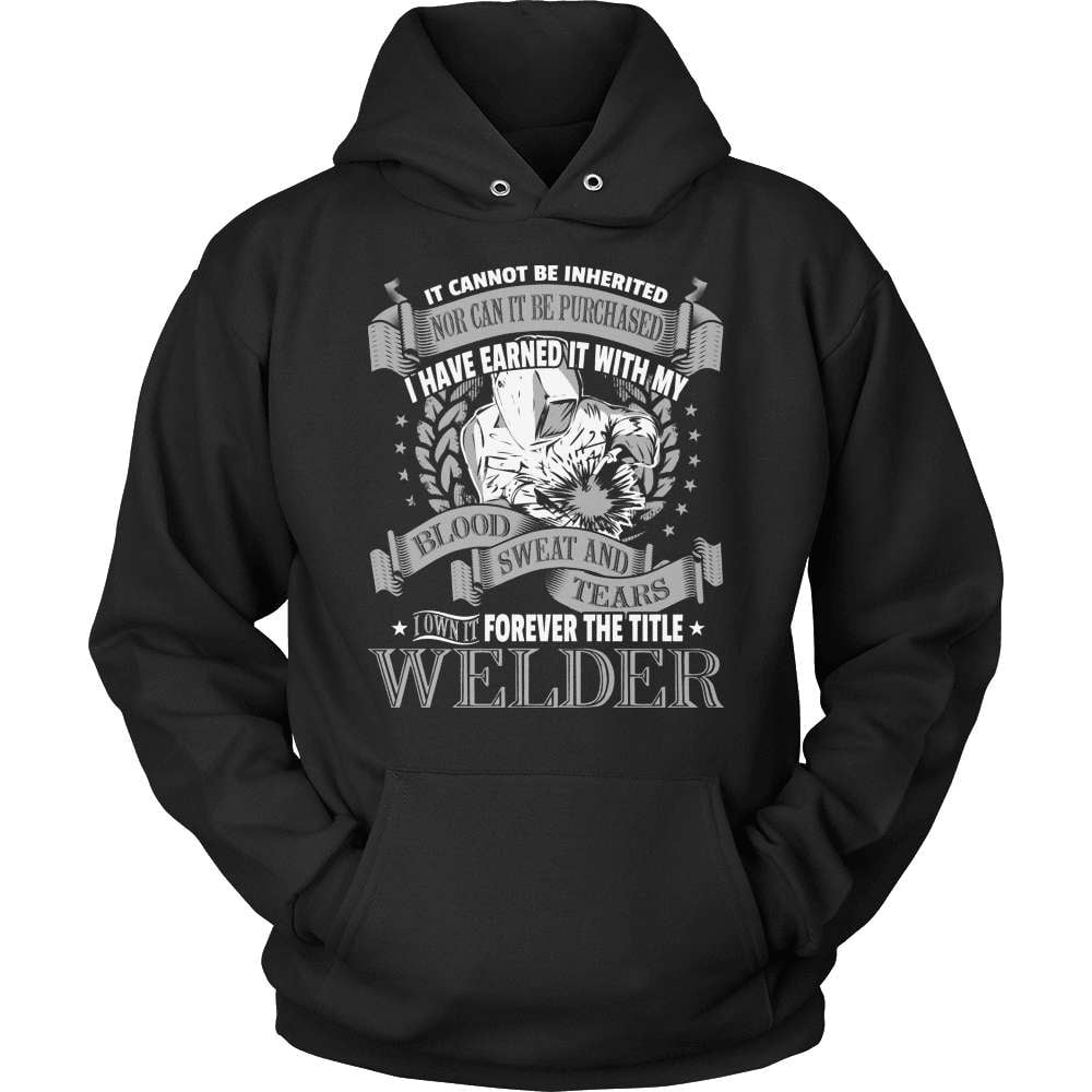 Welder T-Shirt Design - It Cannot Be Inherited - snazzyshirtz.com