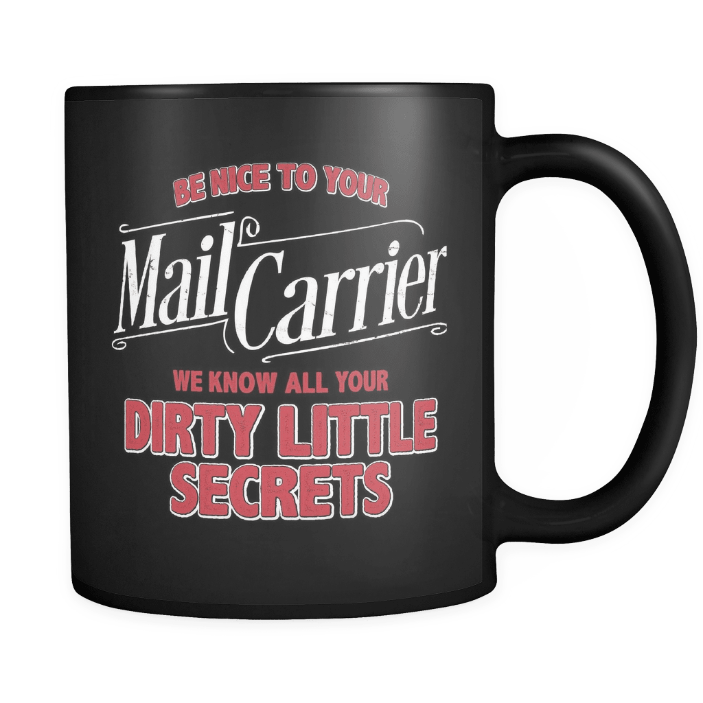 Be Nice To Your Mail Carrier - Luxury Mug - snazzyshirtz.com