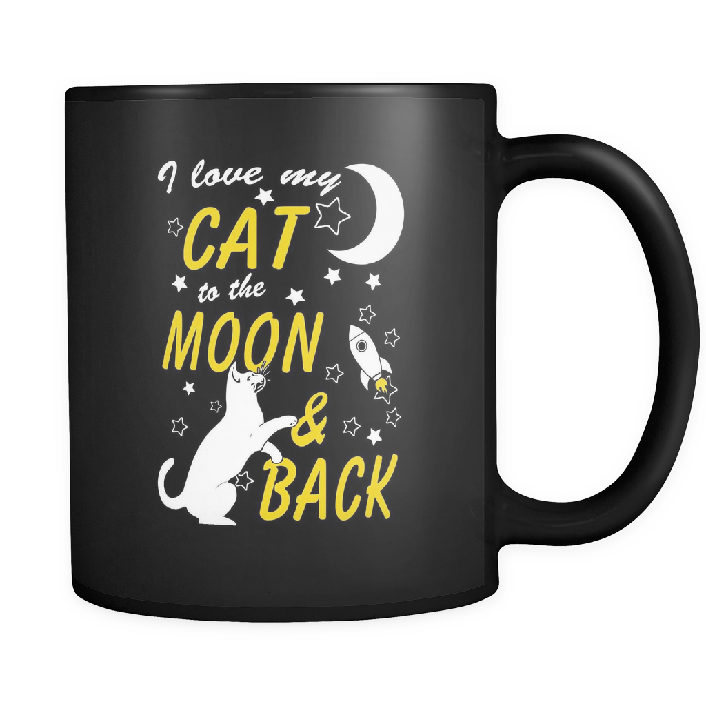 To The Moon And Back - Luxury Cat Mug