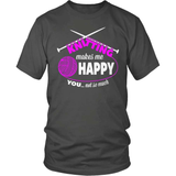 Knitting T-Shirt Design - Makes Me Happy