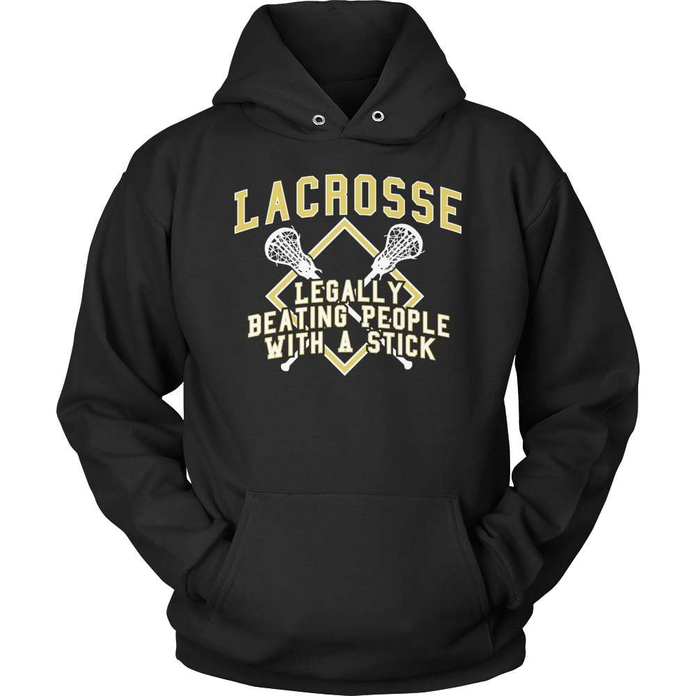 Lacrosse T-Shirt Design - Legally Beating People With A Stick - snazzyshirtz.com