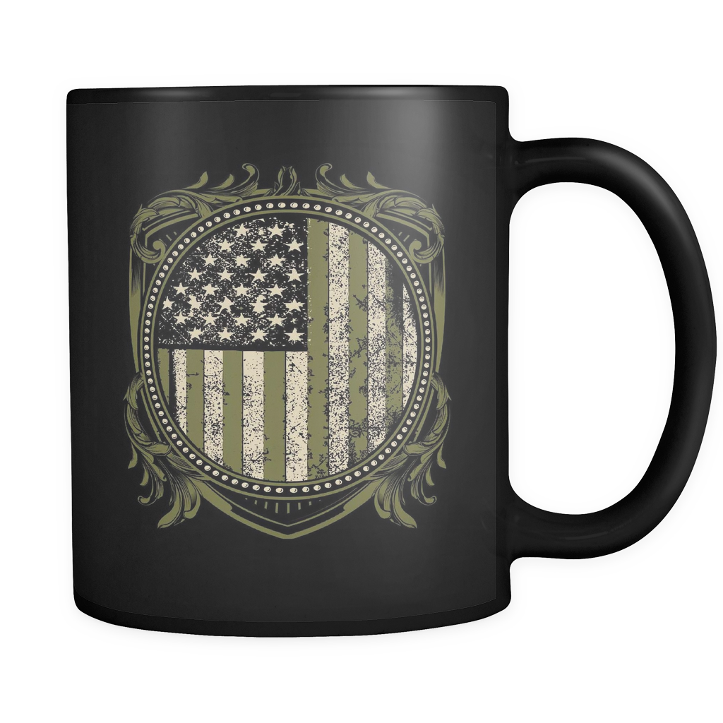 U.S Veteran Crest - Luxury Mug
