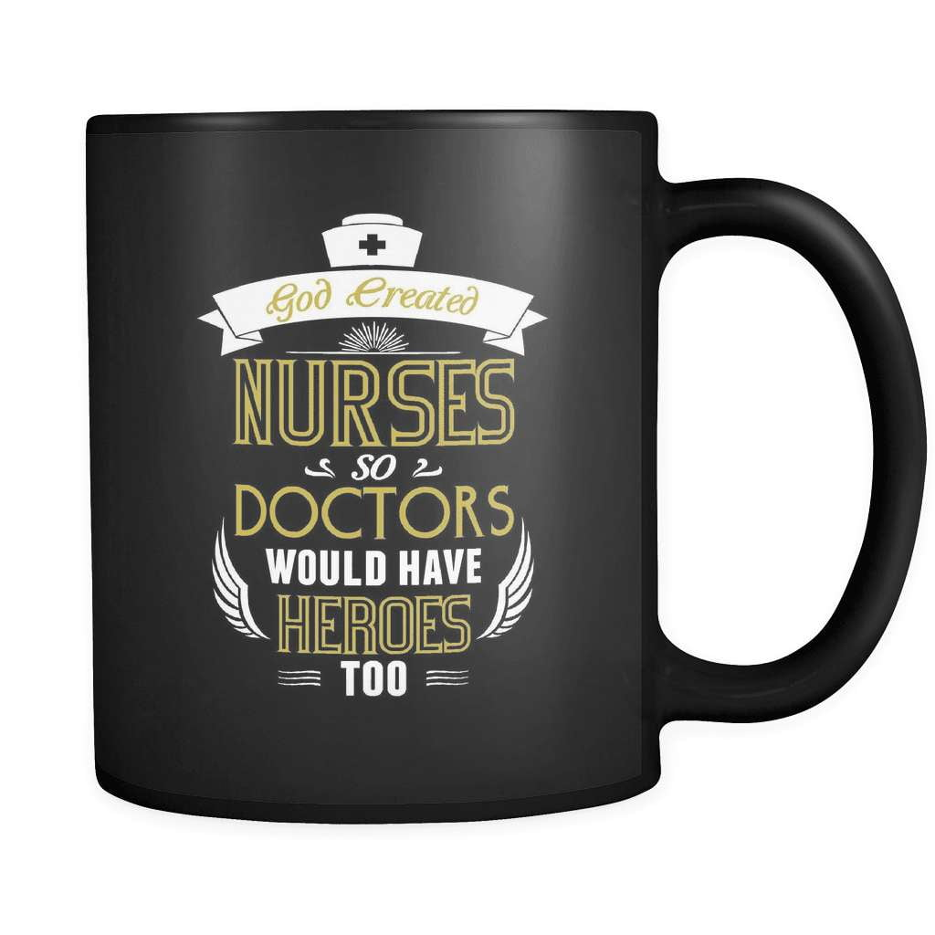 God Created Nurses - Luxury Mug