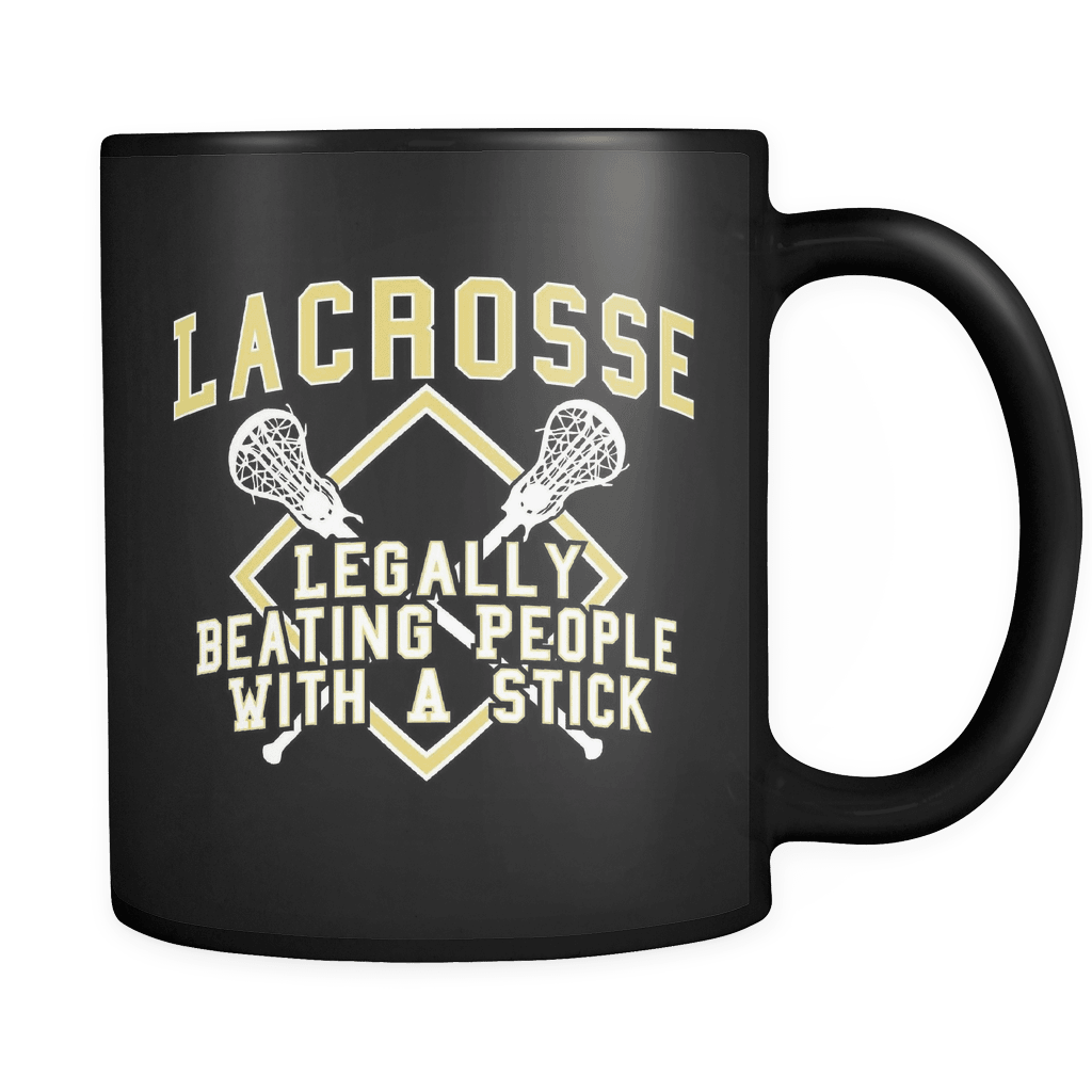 Legally Beating People With A Stick - Luxury Lacrosse Mug