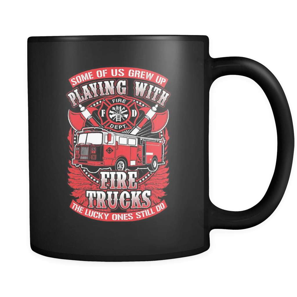 Playing With Trucks - Luxury Firefighter Mug