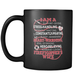 I Am A Firefighter's Wife - Luxury Mug