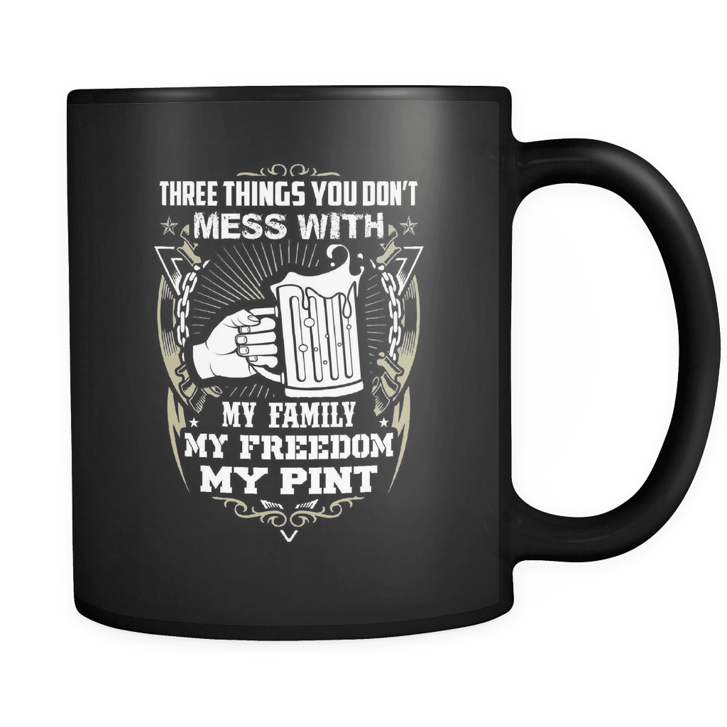 My Family My Freedom My Pint - Luxury Beer Mug