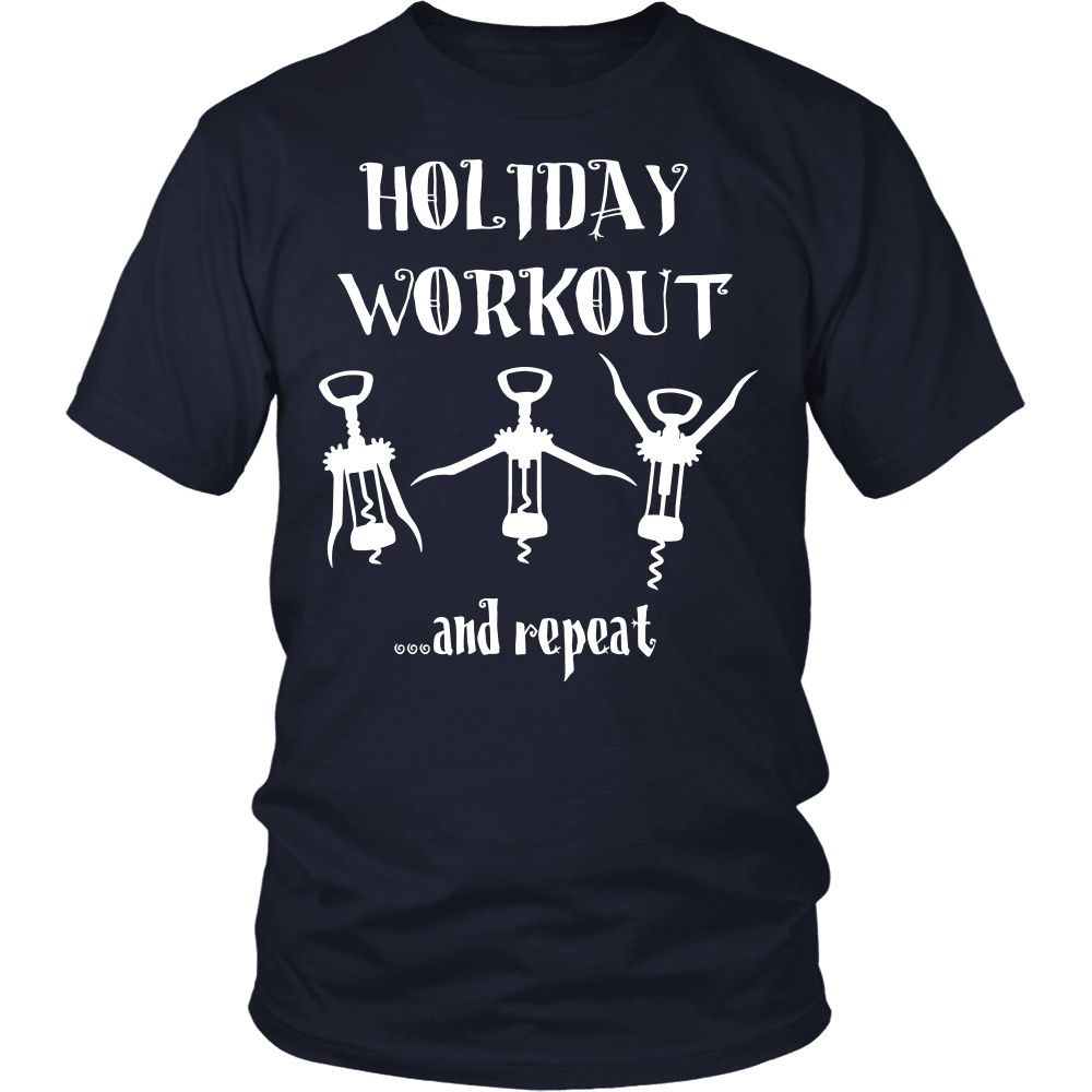 Christmas T-Shirt Design - Wine Workout