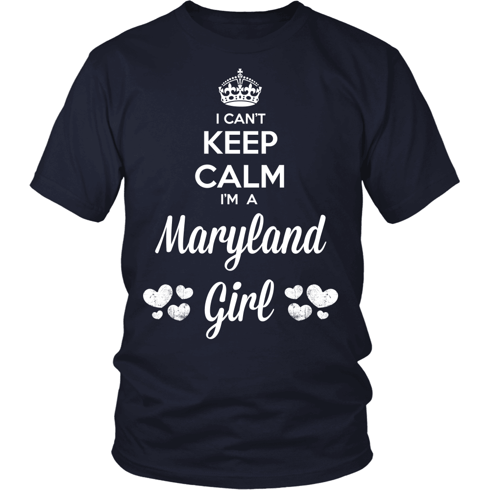 Maryland T-Shirt Design - Can't Keep Calm Maryland Girl