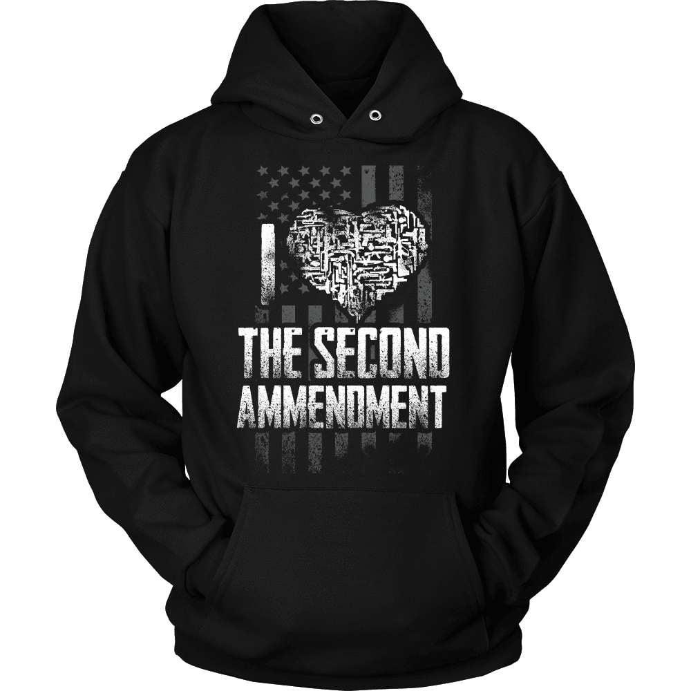 Gun T-Shirt Design - I Love The Second - snazzyshirtz.com